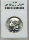SMS Kennedy Half Dollars, 1966 50C Double Die Obverse & Double Die Reverse SMS MS65ANACS. NGC Census: (45/178). PCGS Population (259/1715). Mintage...