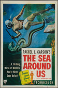 "Movie Posters:Documentary, The Sea Around Us (RKO, 1953). One Sheet (27"" X 41"") Academy Award Style. Documentary.. ..."