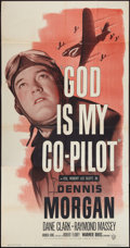 "Movie Posters:War, God Is My Co-Pilot (Warner Brothers, R-1950). Three Sheet (41"" X81""). War.. ..."
