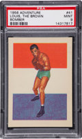 Boxing Cards:General, 1956 Topps Adventure Joe Louis #41 PSA Mint 9....