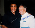 Autographs:Photos, Circa 1990 Muhammad Ali & Mickey Mantle Signed LargePhotograph....