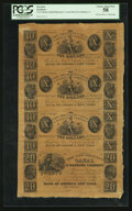 Obsoletes By State:Louisiana, New Orleans, LA- New Orleans Canal & Banking Company $10-$10-$10-$20 G84-G84-G84-G86 Uncut Sheet. ...