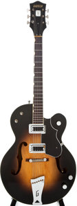 Musical Instruments:Electric Guitars, 1964 Gretsch Anniversary 6117 Sunburst Semi-Hollow Body ElectricGuitar, #81625....