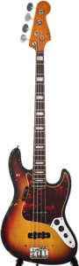 Musical Instruments:Electric Guitars, 1968/1971 Fender Jazz Bass Sunburst Electric Bass Guitar,#217520....