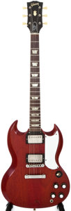 Musical Instruments:Electric Guitars, 1962 Gibson Les Paul SG Cherry Solid Body Electric Guitar,#49866....