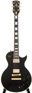 Musical Instruments:Electric Guitars, 1981 Gibson Les Paul Artist Black Solid Body Electric Guitar,#82311549....