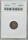 Bust Half Dimes: , 1832 H10C VF30 ANACS. NGC Census: (3/760). PCGS Population(10/715). Mintage: 965,000. Numismedia Wsl. Price for problem fr...