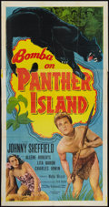 "Movie Posters:Adventure, Bomba on Panther Island (Monogram, 1949). Three Sheet (41"" X 81"").Adventure.. ..."