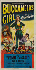 "Movie Posters:Adventure, Buccaneer's Girl (Universal International, 1950). Three Sheet (41""X 81""). Adventure.. ..."