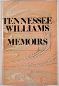 Books:Signed Editions, Tennessee Williams. SIGNED. Memoirs. Garden City: Doubleday,1975. First edition. Signed by Williams on page t...