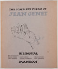 Books:First Editions, [Jean Genet]. The Complete Poems of Jean Genet. [South SanFrancisco]: Manroot, [1981]. First edition, limited to ...