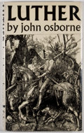 Books:First Editions, John Osborne. Luther. London: Faber and Faber, [1961]. Firstedition, first printing. Octavo. Publisher's binding an...