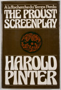 Books:First Editions, Harold Pinter. The Proust Screenplay. New York: Grove Press,[1977]. First edition, first printing. Octavo. Publishe...