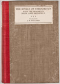 Books:Fiction, J. H. Hallard [translator]. The Idylls of Theocritus with the Fragments Bion and Moschus. London: George Routledge, ...