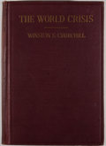 Books:First Editions, Winston S. Churchill. The World Crisis. New York: CharlesScribner's Sons, 1923. First American edition. Octavo. Pub...