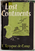 Books:First Editions, L. Sprague de Camp. Lost Continents. New York: Gnome Press,[1954]. First edition, first printing. Octavo. Publisher...