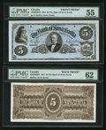 Canadian Currency: , Halifax, NS- The Bank of Nova Scotia $5 July 2, 1881 Ch. #550-20-06FP/BP Face and Back Proofs. ... (Total: 2 )