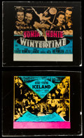 """Movie Posters:Musical, Wintertime & Other Lot (20th Century Fox, 1943). Glass Slides(2) (2.5"""" X 3""""). Musical.. ... (Total: 2 Items)"""