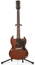 Musical Instruments:Electric Guitars, 1961 Gibson Les Paul Jr Cherry Solid Body Electric Guitar #21536...
