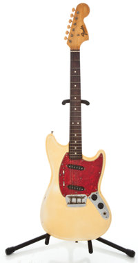 1966 Fender Duo-Sonic II Olympic White Solid Body Electric Guitar #177287