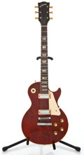 Musical Instruments:Electric Guitars, 1974 Gibson Les Paul Deluxe Wine Red Solid Body Electric Guitar #394282...