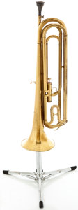 Musical Instruments:Horns & Wind Instruments, Getzen Marching French Horn Brass Trumpet #105785...