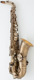 Musical Instruments:Horns & Wind Instruments, 1930's Wurlitzer American Lacquer Alto Saxophone #65324...