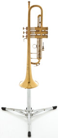 Musical Instruments:Horns & Wind Instruments, 1956 Bach Stradivarius Model 43 Brass Trumpet #13752...