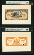 Canadian Currency: , Georgetown, British Guiana- The Royal Bank of Canada $100(£20-16-8) Jan. 2, 1920 Ch. 630-36-06FP/BP Face and Back Proof...(Total: 2 notes)