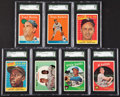 Baseball Cards:Lots, 1958 & 1959 Topps Baseball SGC-Graded Collection (7) - All ButOne a HoFer! ...