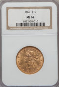Liberty Eagles: , 1890 $10 MS62 NGC. NGC Census: (51/3). PCGS Population (82/14).Mintage: 57,900. Numismedia Wsl. Price for problem free NGC...