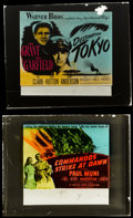 "Movie Posters:War, Destination Tokyo and Other Lot (Warner Brothers, 1943). GlassSlides (2) (2.5"" X 3""). War.. ... (Total: 2 Items)"