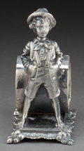 Silver Holloware, American:Napkin Rings, A BARBOUR SILVER-PLATED FIGURAL NAPKIN RING . Barbour Silver Co.,Hartford, Connecticut, circa 1875. Marks: BARBOUR SILVER...