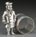 Silver Holloware, American:Napkin Rings, AN AMERICAN SILVER-PLATED FIGURAL NAPKIN RING . Attributed toMeriden Silver Plate Co., Meriden, Connecticut, circa 1875. Un...