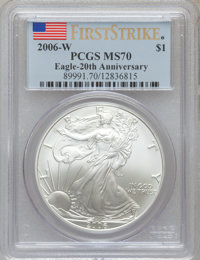 2006-W $1 20th Ann 1st Str MS70 PCGS. PCGS Population (215). NGC Census: (0). (#89991)...(PCGS# 89991)