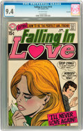 Bronze Age (1970-1979):Romance, Falling in Love #114 Savannah pedigree (DC, 1970) CGC NM 9.4Off-white pages....