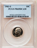 Proof Roosevelt Dimes: , 1983-S 10C PR69 Deep Cameo PCGS. PCGS Population (2738/112). NGCCensus: (448/125). Numismedia Wsl. Price for problem fre...