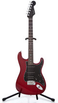 Musical Instruments:Electric Guitars, 2007 Fender Deluxe Stratocaster Mahogany Trans Red Solid BodyElectric Guitar #DZ7055953...