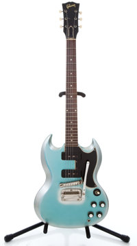1960's Gibson SG Special Refinished Blue Solid Body Electric Guitar
