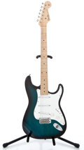 Musical Instruments:Electric Guitars, Recent Fender Strat Copy Trans Green Solid Body Electric Guitar ...