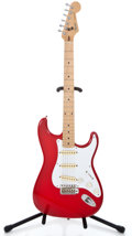 Musical Instruments:Electric Guitars, 1989 Fender Stratocaster MIJ Red Solid Body Electric Guitar#E977743...
