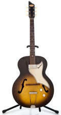 Musical Instruments:Electric Guitars, 1958 Supro Ranchero Sunburst Semi-Hollow Body Electric Guitar#X87743...