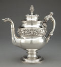 Silver Holloware, American:Pitchers, A KIRK COIN SILVER PITCHER . Samuel Kirk, Baltimore, Maryland,circa 1824. Marks: S. KIRK, (Baltimore assay mark),C...
