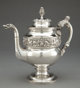 A KIRK COIN SILVER PITCHER Samuel Kirk, Baltimore, Maryland, circa 1824 Marks: S. KIRK, (Baltimore assay mark), C