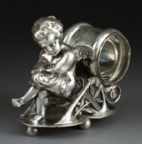 A PAIRPOINT SILVER-PLATED FIGURAL NAPKIN RING Pairpoint Mfg. Co., New Bedford, Massachusetts, circa 1875 Marks