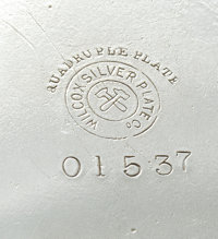 wilcox silverplate marks