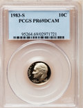 Proof Roosevelt Dimes: , 1983-S 10C PR69 Deep Cameo PCGS. PCGS Population (2800/141). NGCCensus: (455/125). Numismedia Wsl. Price for problem free...