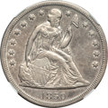 Seated Dollars, 1850-O $1 AU50 NGC....
