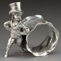Silver Holloware, American:Napkin Rings, AN AMERICAN SILVER-PLATED FIGURAL NAPKIN RING . Attributed toBarbour Silver Co., Hartford, Connecticut, circa 1875. Unmarke...