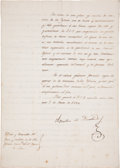 Autographs:Non-American, Agustin Iturbide Letter Signed as President of the Regency....